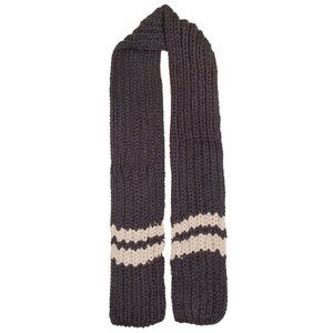 LOF Striped Point Warm Knitted Skinny Oblong Scarf